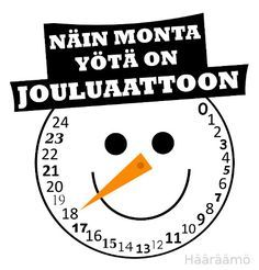 """Näin monta yötä on jouluaattoon"" Tein printattavan version… Preschool Christmas, Christmas Holidays, Christmas Crafts, Christmas Decorations, Xmas, Hobbies And Crafts, Diy And Crafts, Crafts For Kids, Holiday Pops"