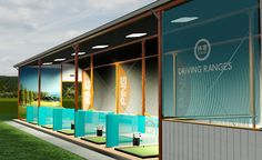 Golf Driving Range shelter design installation & Development - Modular steel Construction Building| H-B Designs