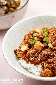 Sichuan Mapo Tofu   Proef Japan Kung Pao Chicken, Chinese, Food Japan, Ethnic Recipes, Diners, Restaurants, Food Dinners, Dinners, Chinese Language