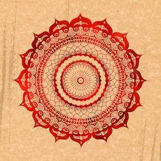 Red Lotus Mandala: 12x12 print. $29.00, via Etsy.