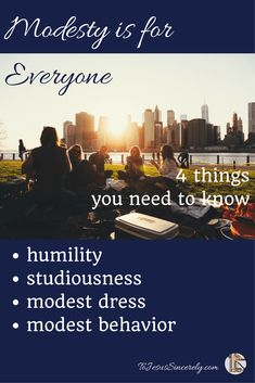 YES!  A refreshing take on modesty, that's more than just rules and dress code!  Modesty is for Everyone: 4 Things You Need to Know.