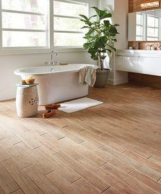 Marazzi Montagna 4 x 28 wood-look tile in Soft Maple