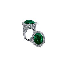 Robert Procop royal oval emerald ring in platinum, price upon request
