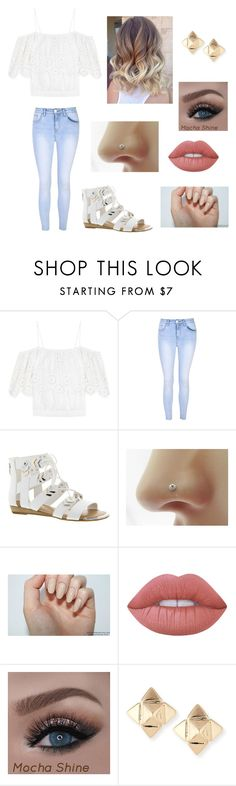 """""""Untitled #716"""" by harmonjo ❤ liked on Polyvore featuring Ganni, Glamorous, Fergie, Lime Crime and Valentino"""