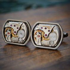 Handcrafted Movement IWC Watch Movement Cufflinks handcrafted by J Fox Cufflinks , shipped wor… International Watch Company, J Fox, Iwc Watches, Cufflinks, Luxury, Unique Jewelry, Handmade Gifts, Accessories, Etsy