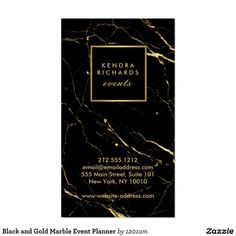 Black and Gold Marble Event Planner Business Card Event Planning Business, Event Planning Design, Party Planning, Business Card Design, Business Cards, Black And Gold Marble, Member Card, Wedding Event Planner, Name Cards