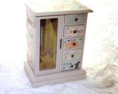 Caja de joyería MBS mano pintada Armoire de la joyería