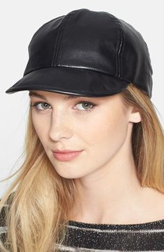 150fae054dd BCBGeneration  Boss  Faux Leather Baseball Cap