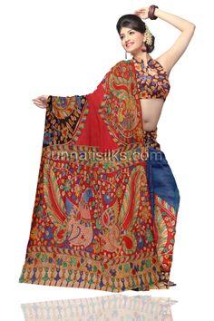 Buy online for exclusive kalamkari printed cotton sarees, designer kalamkari silk saris, kalamkari sarees from Andhra Pradesh at lowest prices from Unnati silks, Indian shopping store. Worldwide express shipping to India, UK,USA, Dubai, Singapore, others