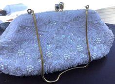Just in time for #Wedding Season, vintage beaded clutch made in Hong Kong. #weddingpurse #bridalclutch #vintagepurse