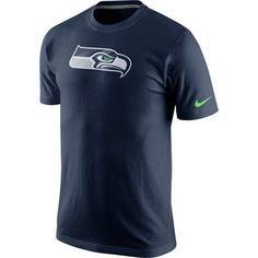 Seattle Seahawks Nike Fast Logo T-Shirt – College Navy d5ecfb51d
