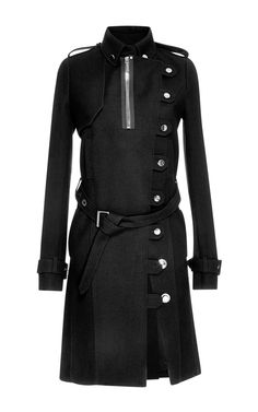 Felt Trench Coat by Anthony Vaccarello for Preorder on Moda Operandi