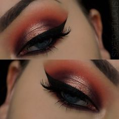 Red toned halo eye