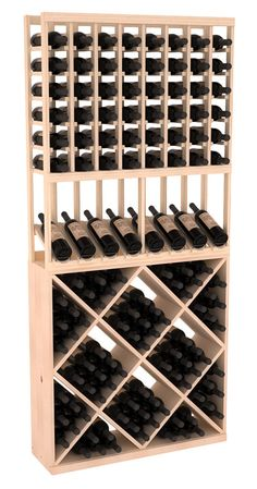 138 Bottle High Reveal Wine Storage Rack Kit Combo 1 in Pine. 13 Stains to Choose From! 138 Bottle High Reveal Wine Storage Rack Kit Combo 1 in Pine. Wine Cellar Racks, Wine Bottle Rack, Wine Cellar Basement, Bottle Labels, Cool Wine Racks, Bottle Stopper, Bottle Opener, Wine Racks America, Wine Rack Storage