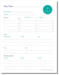 Free printable Potluck Sign Up Sheets for Excel or Google