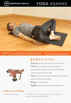 SUPTA BADDHA KONASANA · Beneficios de la práctica de Yoga #entradaencalorpilates