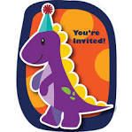 Let's Party With Balloons - Dinosaur Attachment Postcard Invitations, $8.00 (http://www.letspartywithballoons.com.au/dinosaur-attachment-postcard-invitations/?page_context=category