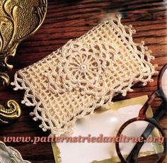 Business Card / Gift card / Travel Tissue Case, Crochet Pattern