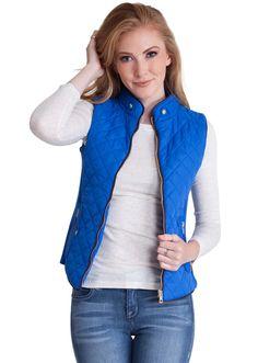 Quilted Padded Zipper Vest  #vest #paddedvest #quiltedvest #jacketvest