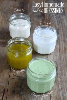 Easy Homemade Salad Dressings: Caesar, Ranch, Vinaigrette and Green Goddess