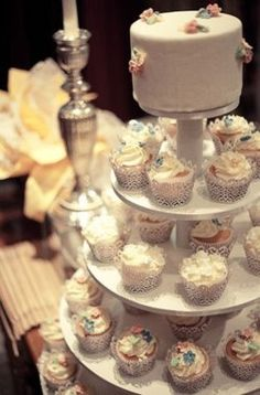 Confeito design cupcakes for wedding