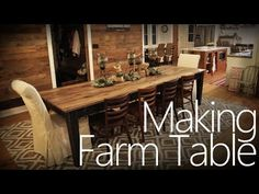 ▶ Making a Farm Table | The Homestead Craftsman {video}