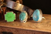 TOTALLY UNIQUE! PAIGE WALLACE TURQUOISE RING!  CHECK OUT THESE THREE AMAZING RINGS DESIGNED BY FABULOUS PAIGE WALLACE! THE PERFECT ACCESSORY FOR ALL YOUR CHIC WE…  $199.00