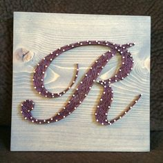 CUSTOM Letter/Initial String Art by KiwiStrings on Etsy