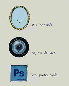 Así me habla el espejo la cámara y el photoshop. Más en www.lasfotosmasgraciosas.com