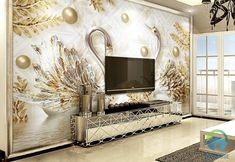 Beibehang Custom Wallpaper Luxury Swan Gold Leaf Watermark Jewelry TV Wall Background Wall mural wallpaper for walls 3 d Swan Wallpaper, 3d Wallpaper For Walls, Cheap Wallpaper, Luxury Wallpaper, Custom Wallpaper, Photo Wallpaper, Modern Room Decor, Home Decor, 3 D