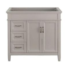 Foremost Ashburn 36 in. W x 21.75 in. D Vanity Cabinet in Grey ASGRA3621DL at The Home Depot - Mobile