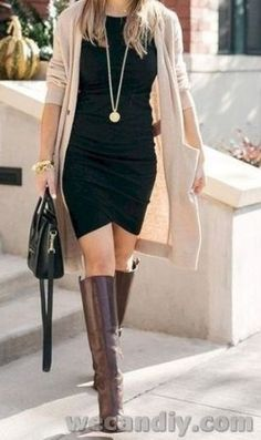 what do you wear in fall? How do you wear a dress in the fall? Check out our latest Stylish Fall Outfit Ideas for Women, fall fashion womens outfits Cute Fall Outfits, Winter Outfits Women, Classy Outfits, Beautiful Outfits, Trendy Outfits, Fashion Outfits, Chic Outfits, Womens Fashion, Winter Stil
