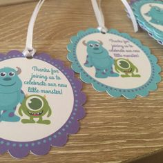 Love these cute monsters! Perfect for any baby shower! All assembled and ready to ship!!