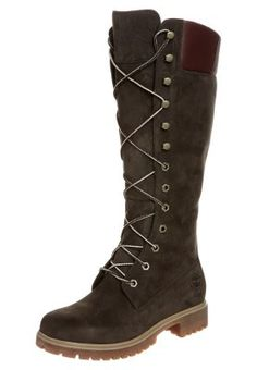 Timberland laced boots, dark brown.