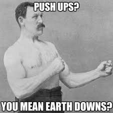 Image result for funny workout memes Zombie Apocalypse, Overly Manly Man Meme, Bottle Flip, Funny Images, Funny Pictures, Funny Pics, Jokes Pics, Library Humor, Pranks