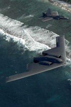 B-2 Stealth Bomber and F-22 Raptor: