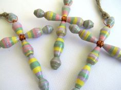 Support a great cause, women entrepreneurs & community development in Nicaragua!!!   Bead Amigas Paper Bead Cross Ornaments