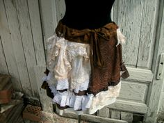 skirt, steampunk, bohemian, gypsy, belly dance, lace, layers and frills, shabby chic, romance, noire, jane austen, women, fashion,scrapbook.