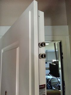 Steel Security Door, Garage to House, MDF panel. Multi-point locking system