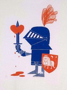 adrian johnson ltd > artwork Illustrations Vintage, Illustration Art, Adrian Johnson, Knight Tattoo, Guy Drawing, Typography Art, Heart Art, Print Pictures, Vintage Designs
