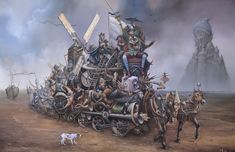 You need to see his art in a bigger format, extremely detailed - Tomek Sętowski - Fabryka Snów - Painting