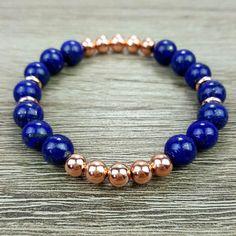 Lapis Lazuli & Rose Gold bracelet