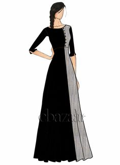 Best Ideas For Fashion Ilustration Indian Wear Sketches Dress Design Sketches, Fashion Design Sketchbook, Fashion Design Drawings, Fashion Sketches, Dress Designs, Fashion Drawing Dresses, Fashion Illustration Dresses, Fashion Dresses, Fashion Art