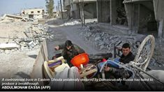 West ups heat on Damascus as Ghouta civilians await aid. Western powers turned up the heat on Damascus on Friday as tens of thousands of civilians in Syria's battered rebel enclave of Eastern Ghouta awaited desperately needed aid.More than 600 civilians have been killed in the enclave outside Damascus since Russia-backed regime forces launched an assault on February 18. More than 340,000 people have been killed and millions displaced since Syria's civil war started in 2011.