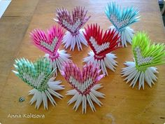 Мастер-класс Поделка изделие Валентинов день Оригами китайское модульное Сердца Я тебя люблю Бумага фото 1