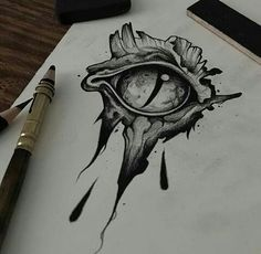 Graphic research for next tattoo projects ! ⚰BOOKING⚰ strangedustbookin… … Graphic research for next tattoo projects ! Dragon Eye Drawing, Realistic Eye Drawing, Dragon Art, Eyeball Drawing, Dark Art Drawings, Art Drawings Sketches, Cute Drawings, Tattoo Drawings, Kunst Tattoos