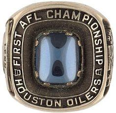 Houston Oilers 1960 AFL championship ring