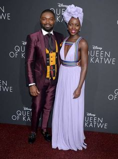 """Celeb photos of the year 2016:       David Oyelowo and Lupita Nyong'o attend the """"Queen of Katwe"""" film premiere in Los Angeles on Sept. 20, 2016."""
