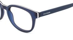Discover Tommy Hilfiger Men's glasses TH This Blue frame is . Mens Glasses, Tommy Hilfiger, Eyewear, Sunglasses, Lenses, Eyeglasses, Glasses, General Eyewear, Shades