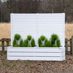 Mobiler Sichtschutz mit Pflanzkasten H190 Blumenkasten | Garten ...